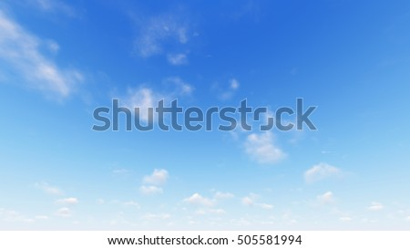 Cloudy blue sky abstract background, blue sky background with tiny clouds, 3d rendering - Shutterstock ID 505581994