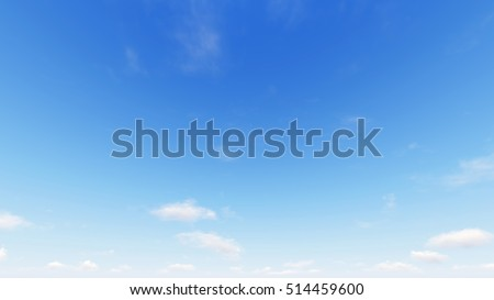 Cloudy blue sky abstract background, blue sky background with tiny clouds, 3d rendering - Shutterstock ID 514459600