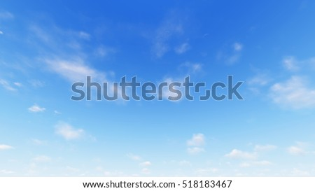 Cloudy blue sky abstract background, blue sky background with tiny clouds, 3d rendering - Shutterstock ID 518183467
