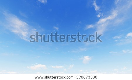 Cloudy blue sky abstract background, blue sky background with tiny clouds, 3d rendering - Shutterstock ID 590873330