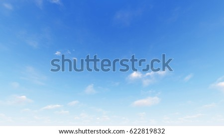 Cloudy blue sky abstract background, blue sky background with tiny clouds, 3d rendering - Shutterstock ID 622819832