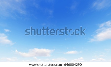 Cloudy blue sky abstract background, blue sky background with tiny clouds, 3d rendering - Shutterstock ID 646004290