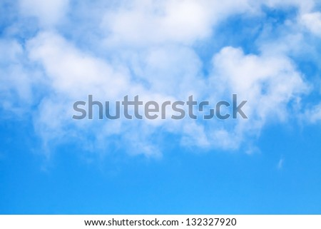 Cloudy blue sky background texture