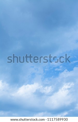 cloudy blue sky day