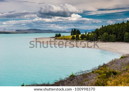 Cloudy day at Lake Pukaki, New Zealand