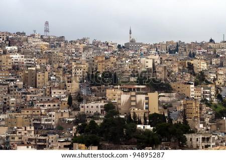 Cloudy Day in Amman,Jordan