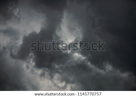 cloudy day with storm clouds #1145770757