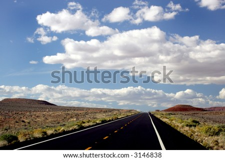 Cloudy desert highway in Utah