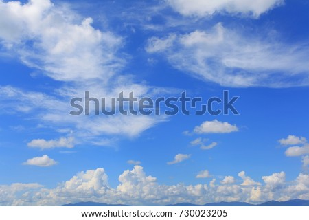 cloudy in the sky - Shutterstock ID 730023205