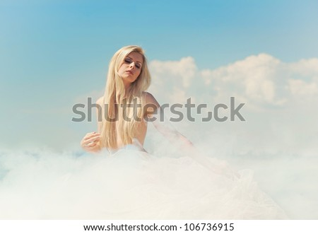 Cloudy lady in the sky