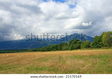 cloudy mountain, summer time