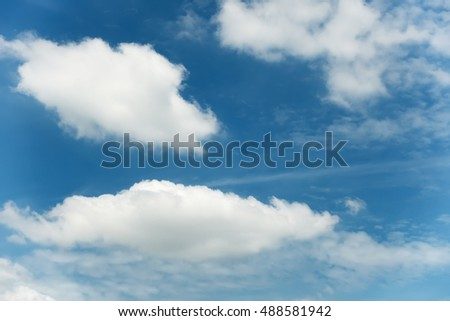 Cloudy on blue skies background, White cloud. - Shutterstock ID 488581942