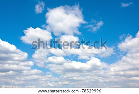 Cloudy sky - abstract natural background