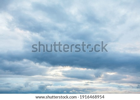 Cloudy sky background . Gloomy weather