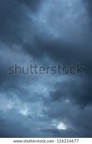 Cloudy sky before the storm. - stock photo