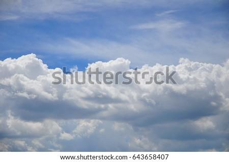 Cloudy sky / Cloudy sky #643658407