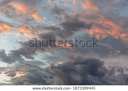 Cloudy sky. Dramatic cloudy sky as abstract background. ストックフォト ©
