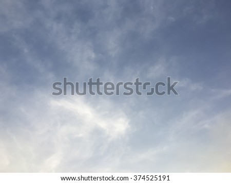 Cloudy sky in evening