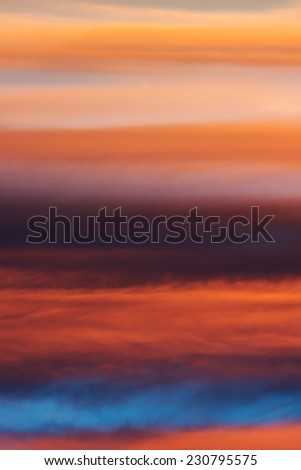 Cloudy sky.  Natural background. Texture. Sky at sunset. Natural background
