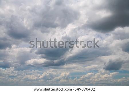 Cloudy sky on a overcast day