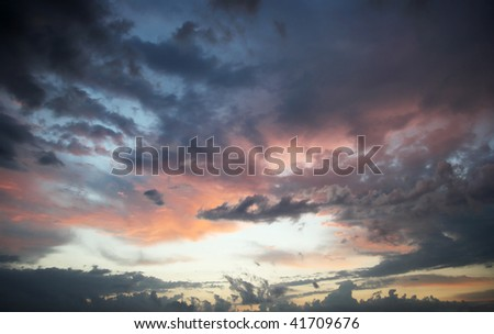 Cloudy sky, sunrise, texture, background