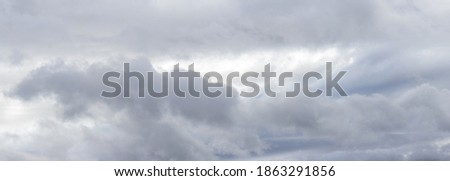Cloudy sky with dramatic rain clouds, panorama ストックフォト ©