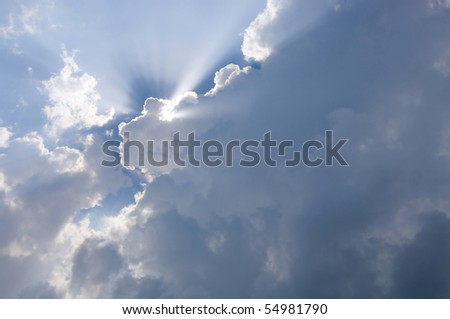 Cloudy sky with Light