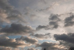 cloudy sky with rare dark gray clouds with threat of rain