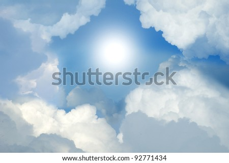 Cloudy Sky with Sunlight