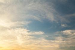 Cloudy sunset sky texture