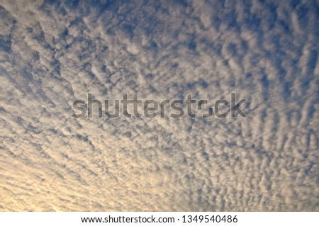 Cloudy Sunset Sunrise Sky #1349540486