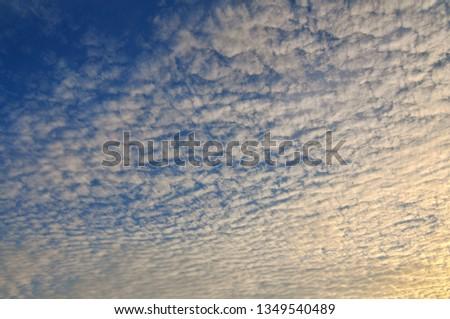 Cloudy Sunset Sunrise Sky #1349540489