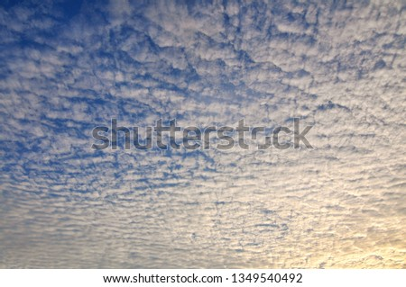 Cloudy Sunset Sunrise Sky #1349540492