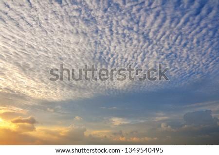 Cloudy Sunset Sunrise Sky #1349540495
