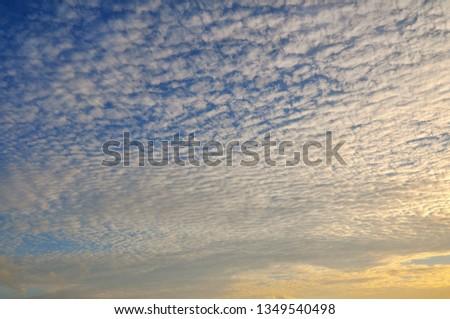 Cloudy Sunset Sunrise Sky #1349540498