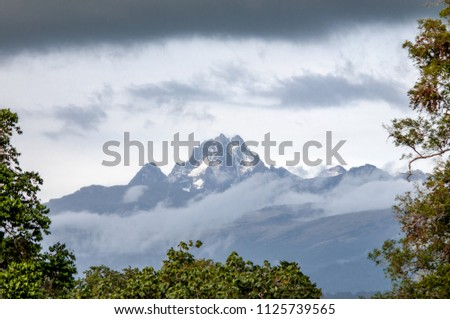 Cloudy View of Mount Kenya Africa