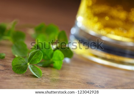 clover and beer