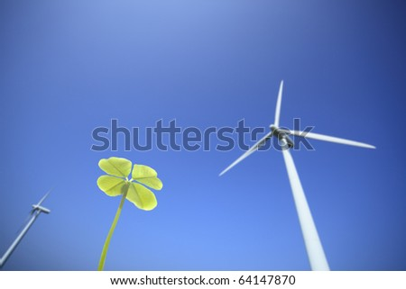 Clover and windmill.