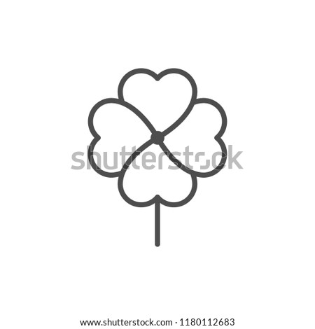 Clover line icon isolated on white