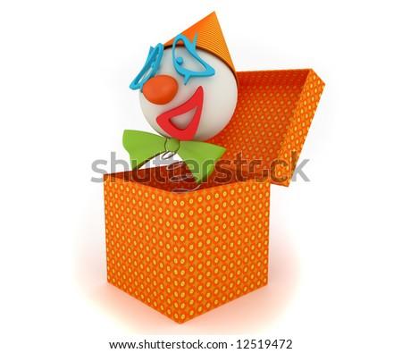 clown funny entertainment box spring hidden surprise
