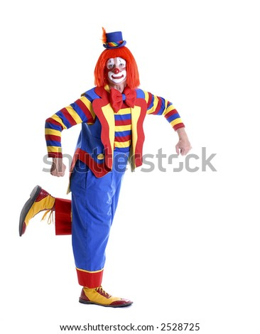 Clown Holding Your Product
