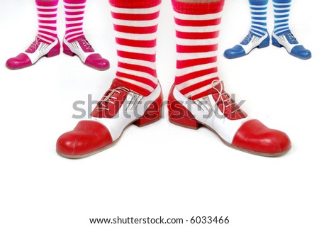 clown legs - stock photo