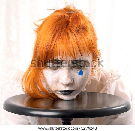 clown makeup designs. stock photo : Clown makeup
