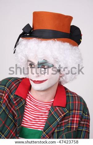 clown portrait - stock photo