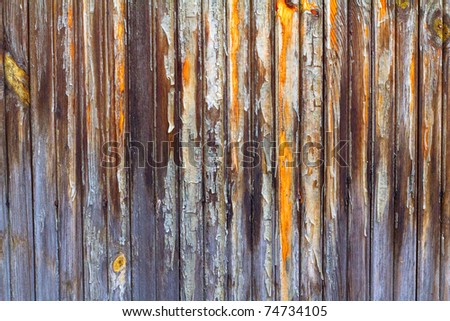 Clsoe up of old wooden barn door texture