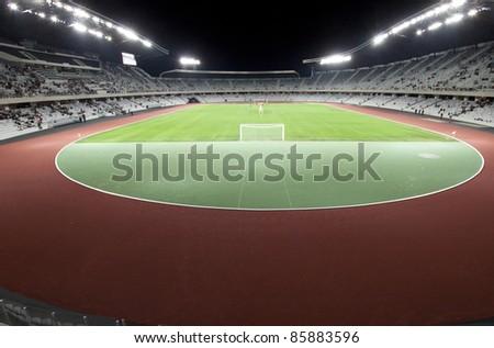 CLUJ NAPOCA,ROMANIA-OCT 1:Grand opening of Cluj Arena stadium on Oct 1, 2011 in Cluj N, Romania.The 31,000 seat stadium is the largest soccer stadium in Transylvania and ranked as UEFA Elite stadium.