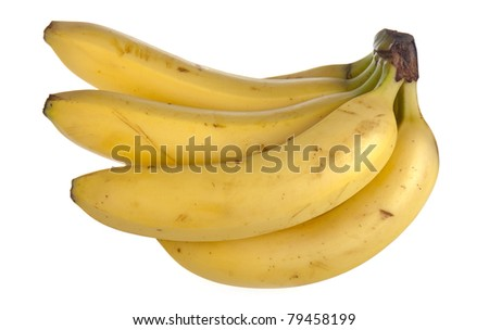 Cluster of bananas, isolated on white