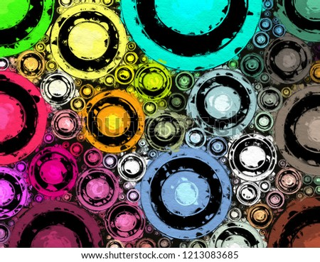 cluster of color dot in paint style illustration abstract background