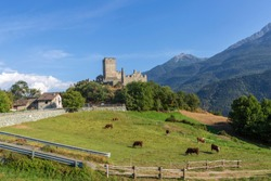 Cly castle, château de Cly in Aosta Valley Italy