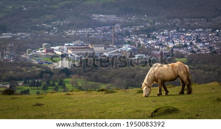 Clydach, a village in the Swansea Valley, South Wales, featuring the Mond works and the gold club. Stock fotó ©